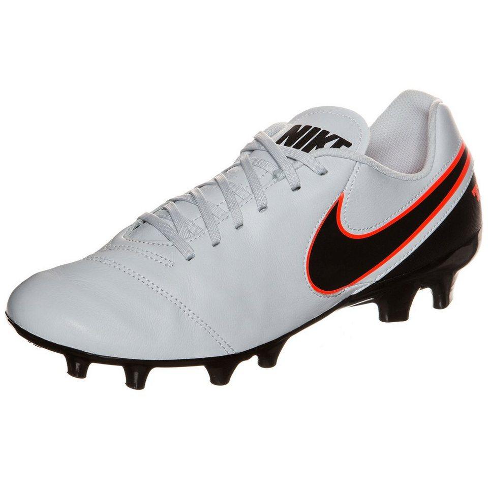 NIKE Tiempo Genio II Leather FG Fußballschuh Herren in grau / schwarz