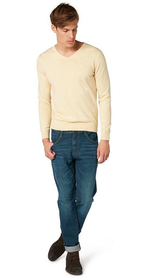 TOM TAILOR Jeans »Jeans mit Waschung« in blue denim green cas
