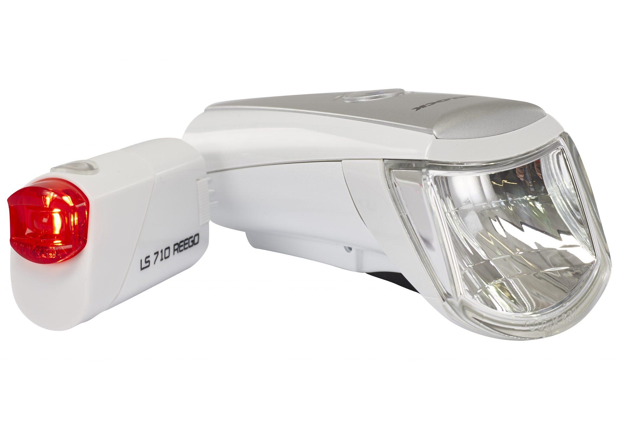 Trelock Fahrradbeleuchtung »LS 750 i-go / 710 Beleuchtungsset weiß«