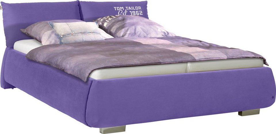 TOM TAILOR Polsterbett »SOFT PILLOW«, Luxus-Microfaser, mit »TOM TAILOR« Print in violet TGU 29