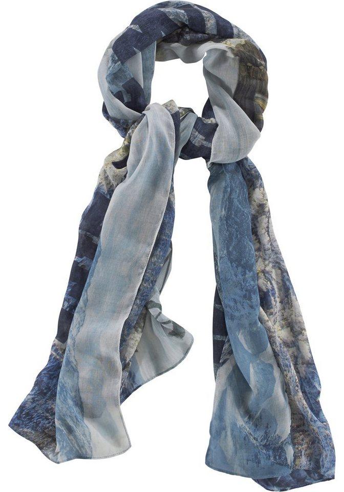 J. Jayz Modeschal mit landschaftlichen Print in blau