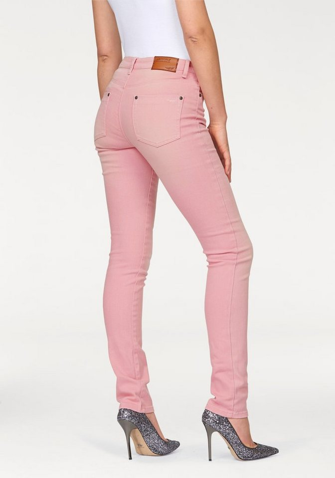 Arizona Röhrenjeans Colored Denim in dusty-rosé