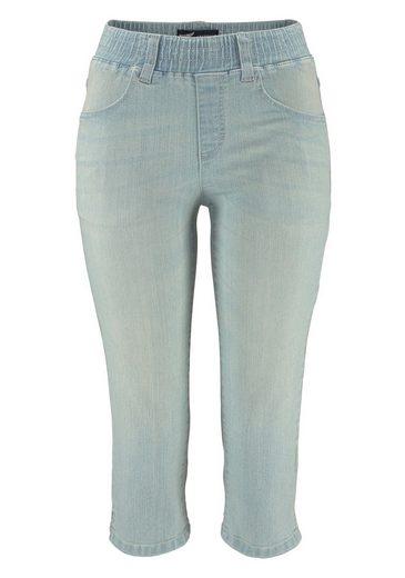 Arizona Capri Jeans With Slip Bund
