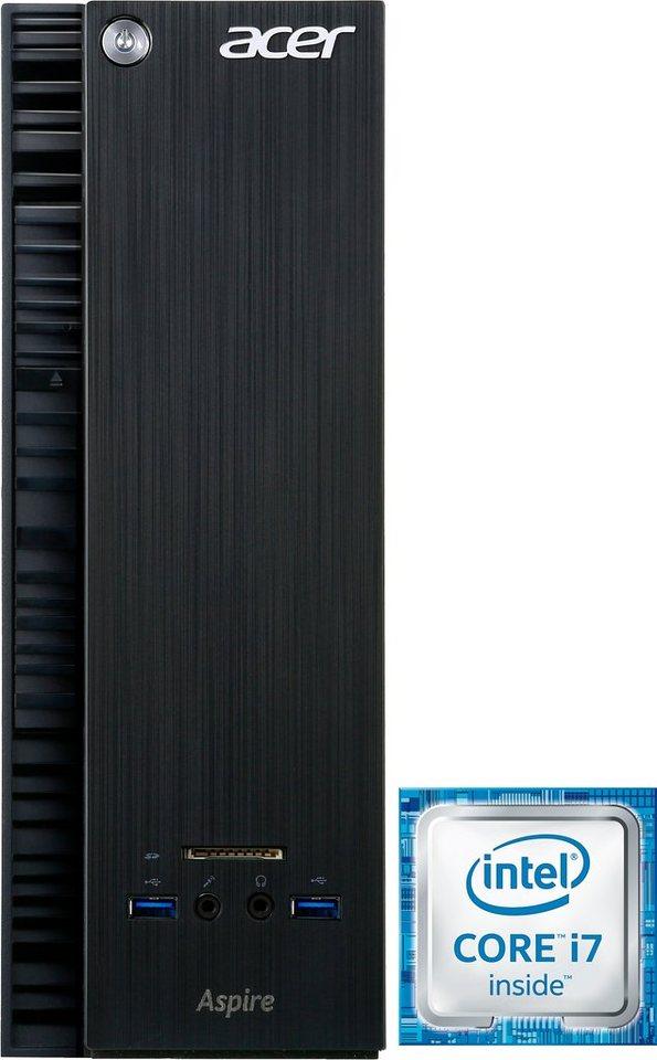 Acer Aspire XC-710 PC, Intel® Core™ i7, 8192 MB DDR3-RAM, 1008 GB Speicher, Intel® HD Graphics in schwarz