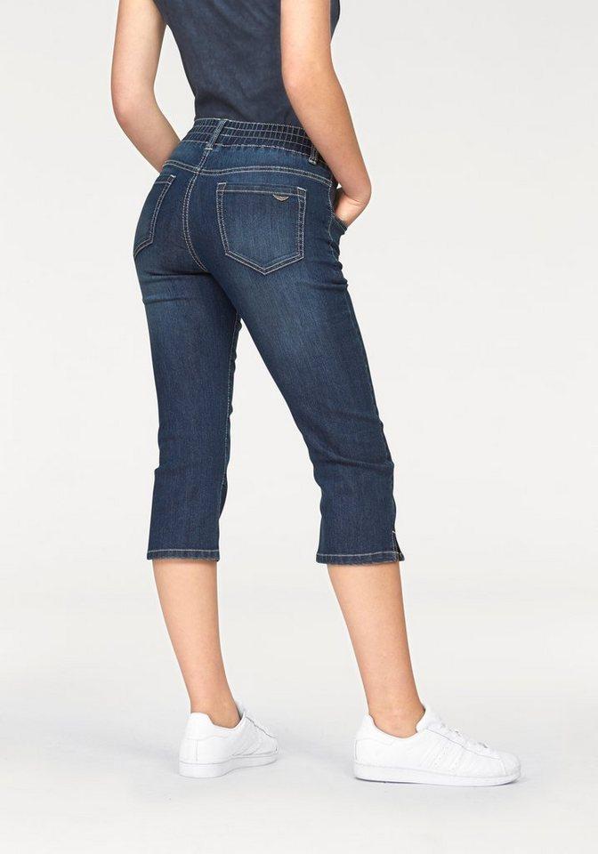 Arizona Caprijeans »mit Schlupfbund« | Bekleidung > Jeans > Caprijeans | Blau | Denim | Arizona