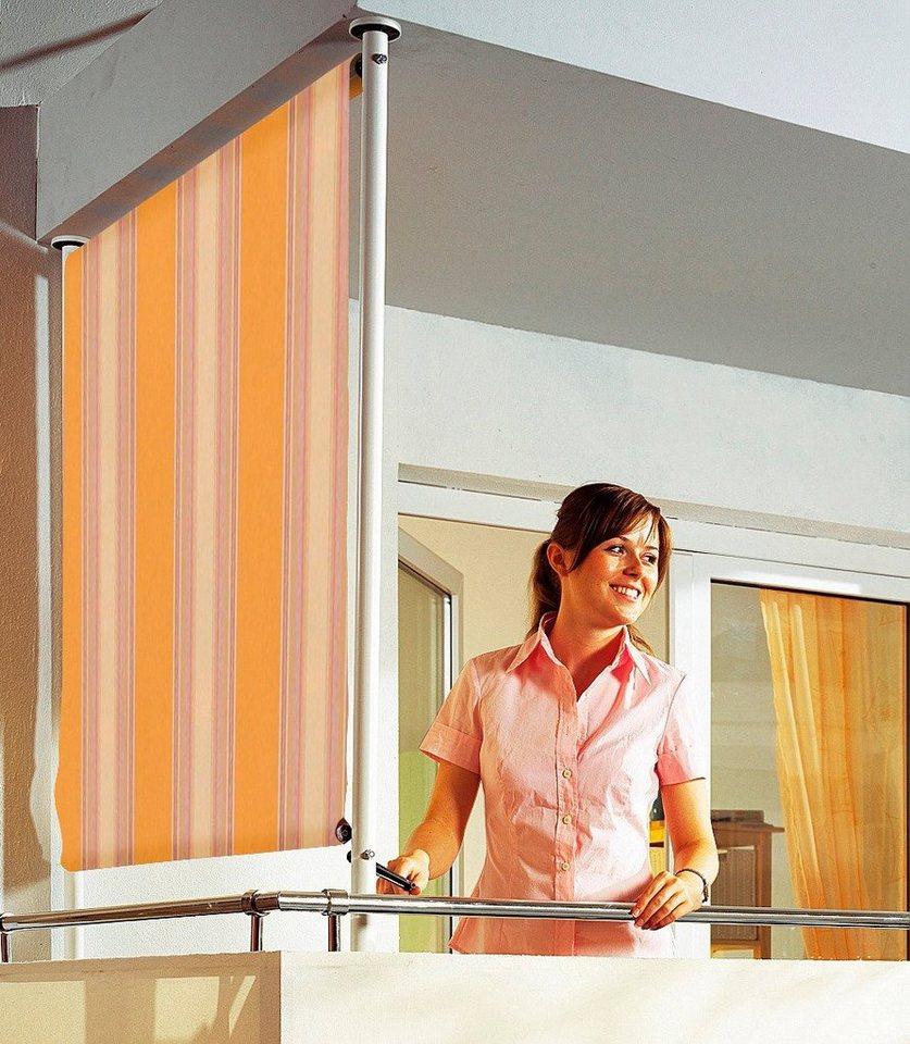 Balkonsichtschutz »Polyacryl, orange/beige« in 2 Breiten in orange