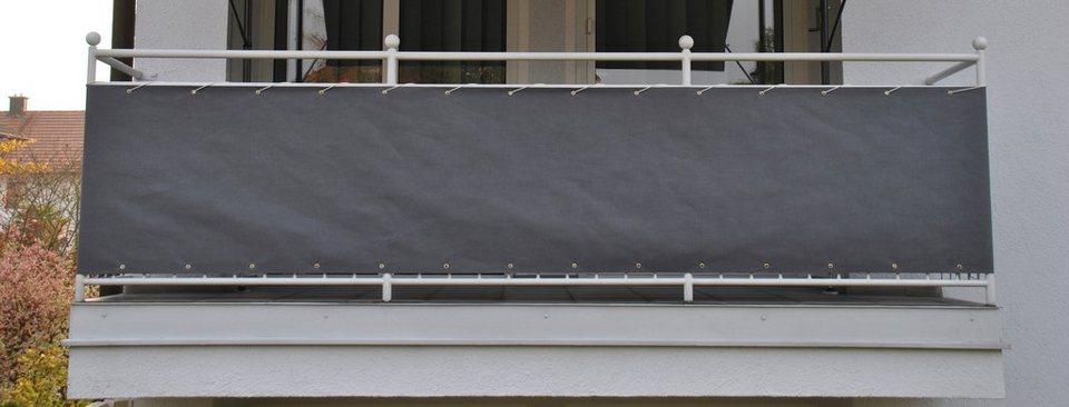 Angerer Freizeitmöbel Wind- und Sichtschutz »Balkonumspannung, Polyacryl, grau« in grau