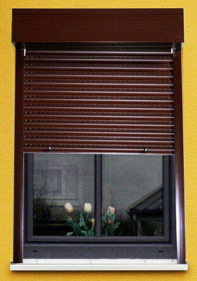 Kunststoff »Vorbau-Rollladen« Festmaß, BxH: 100x100 cm, braun in braun