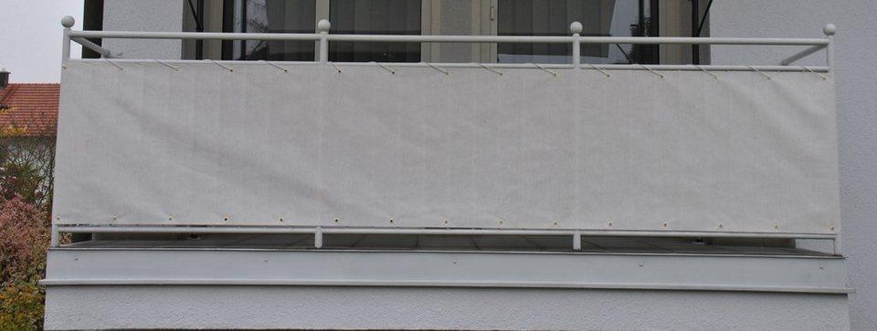 wind und sichtschutz balkonbespannung polyacryl beige. Black Bedroom Furniture Sets. Home Design Ideas