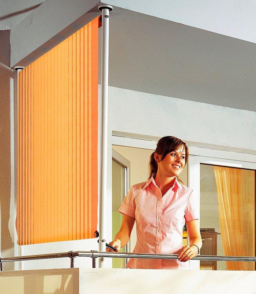 Balkonsichtschutz »Polyacryl, braun/orange« in 2 Breiten in orange