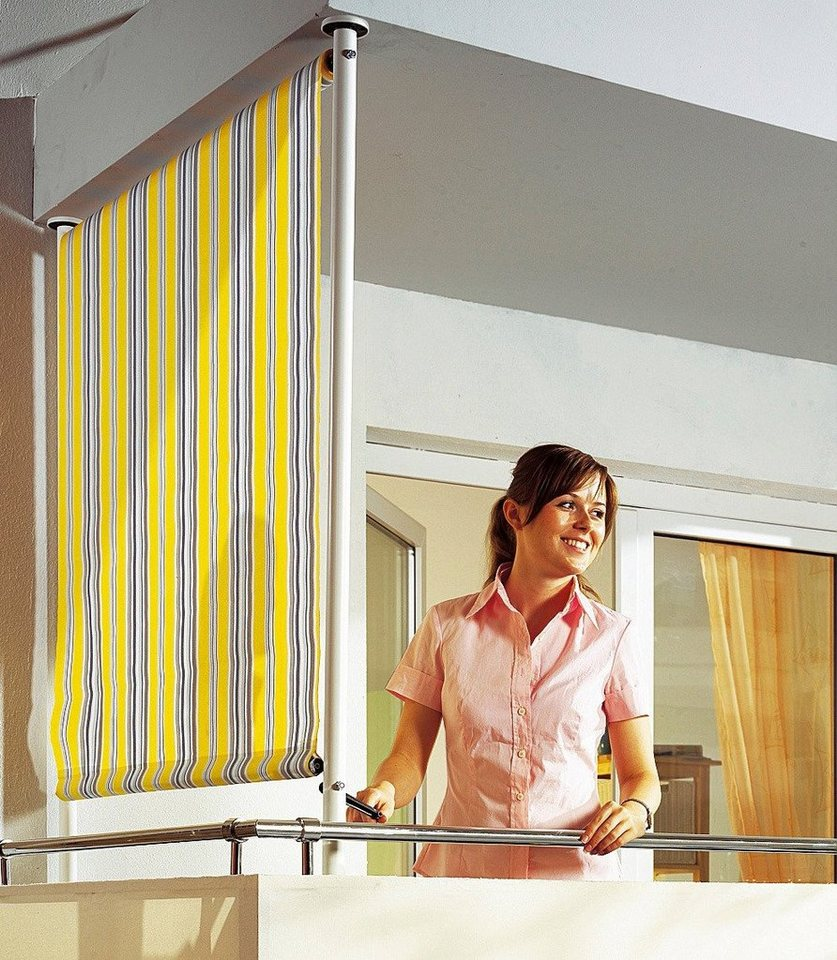 angerer freizeitm bel balkonsichtschutz polyacryl gelb. Black Bedroom Furniture Sets. Home Design Ideas