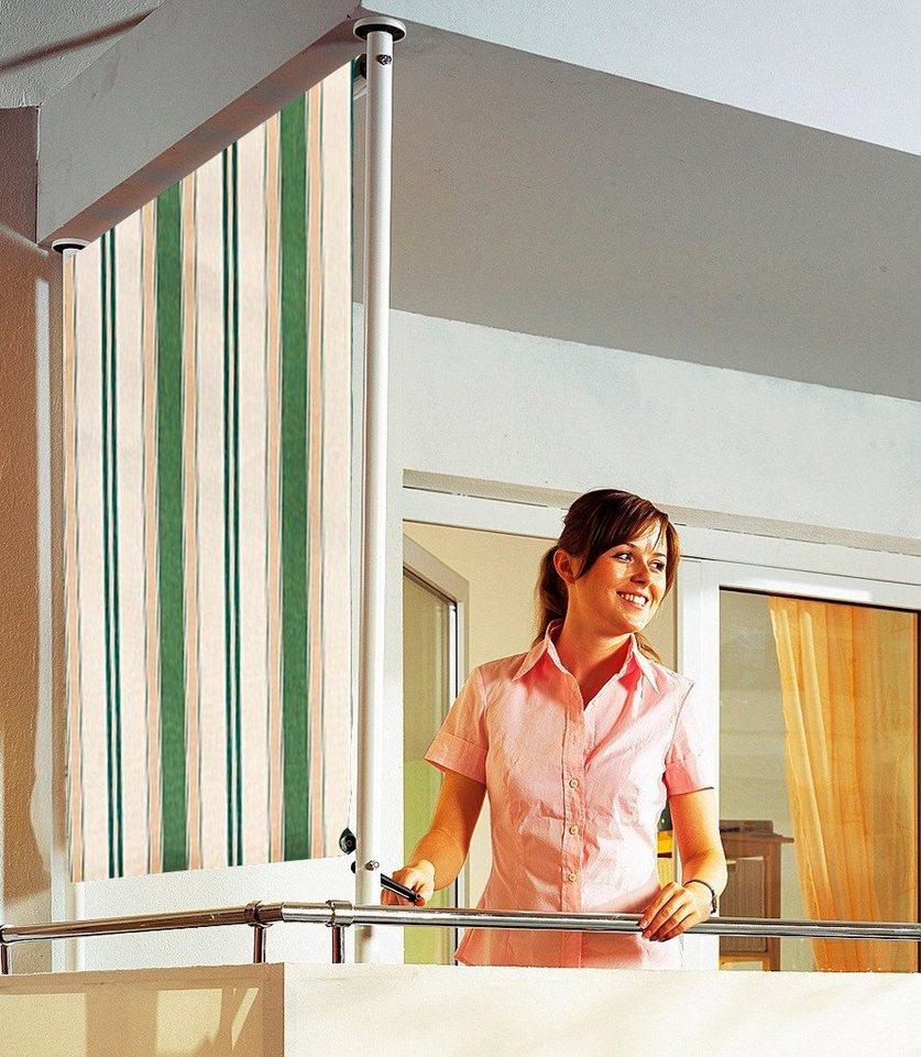 Angerer Freizeitmöbel Balkonsichtschutz »Polyacryl, grün/beige« in 2 Breiten in grün