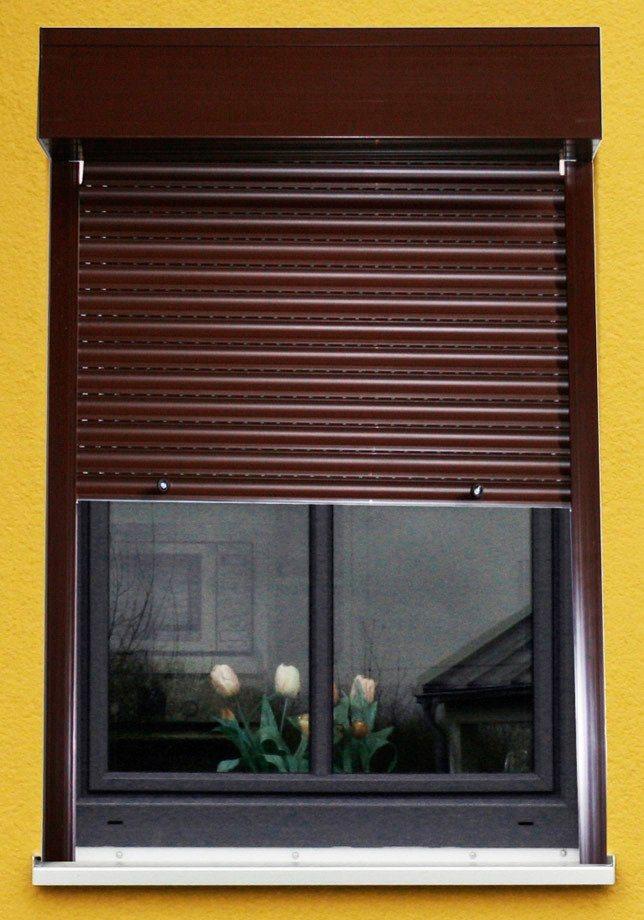 Kunststoff rollladen vorbaurollladen kaufen otto for Hausfassade braun