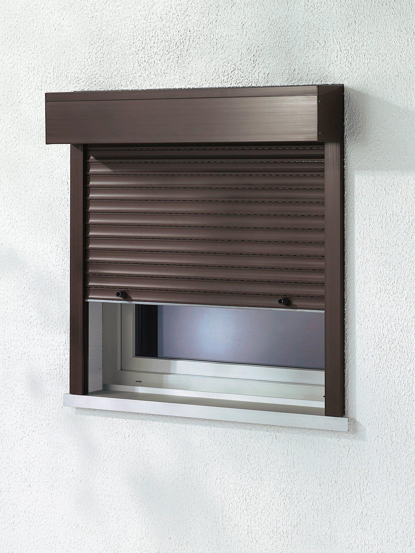 Kunststoff »Vorbau-Rollladen« Festmaß« BxH: 100x130 cm, braun