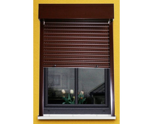 Kunststoff »Vorbau-Rollladen« Festmaß, BxH: 120x150 cm, braun