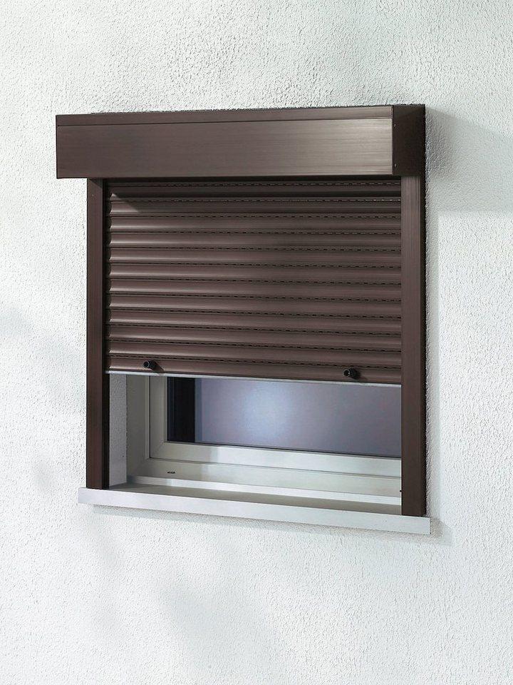 Kunststoff »Vorbau-Rollladen« Festmaß, BxH: 120x150 cm, braun in braun