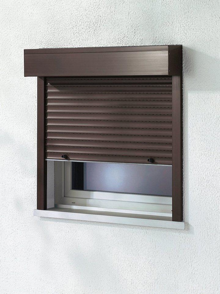 Kunststoff »Vorbau-Rollladen« Sondermaß Breite, Höhe: 235 cm, braun in braun