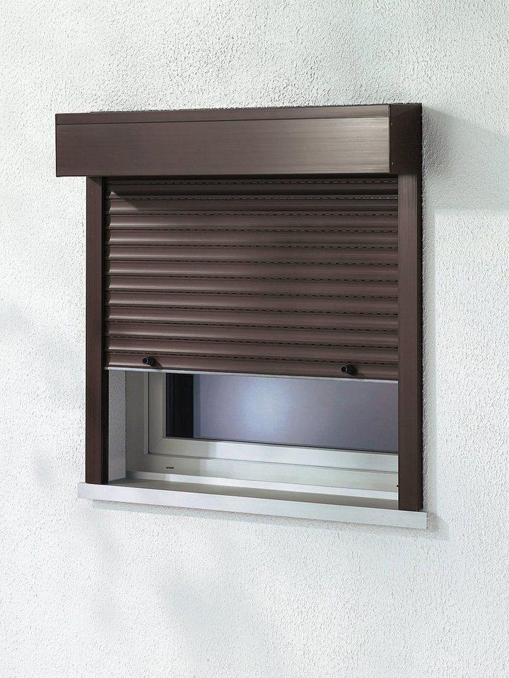 Kunststoff »Vorbau-Rollladen« Festmaß, BxH: 160x150 cm, braun in braun