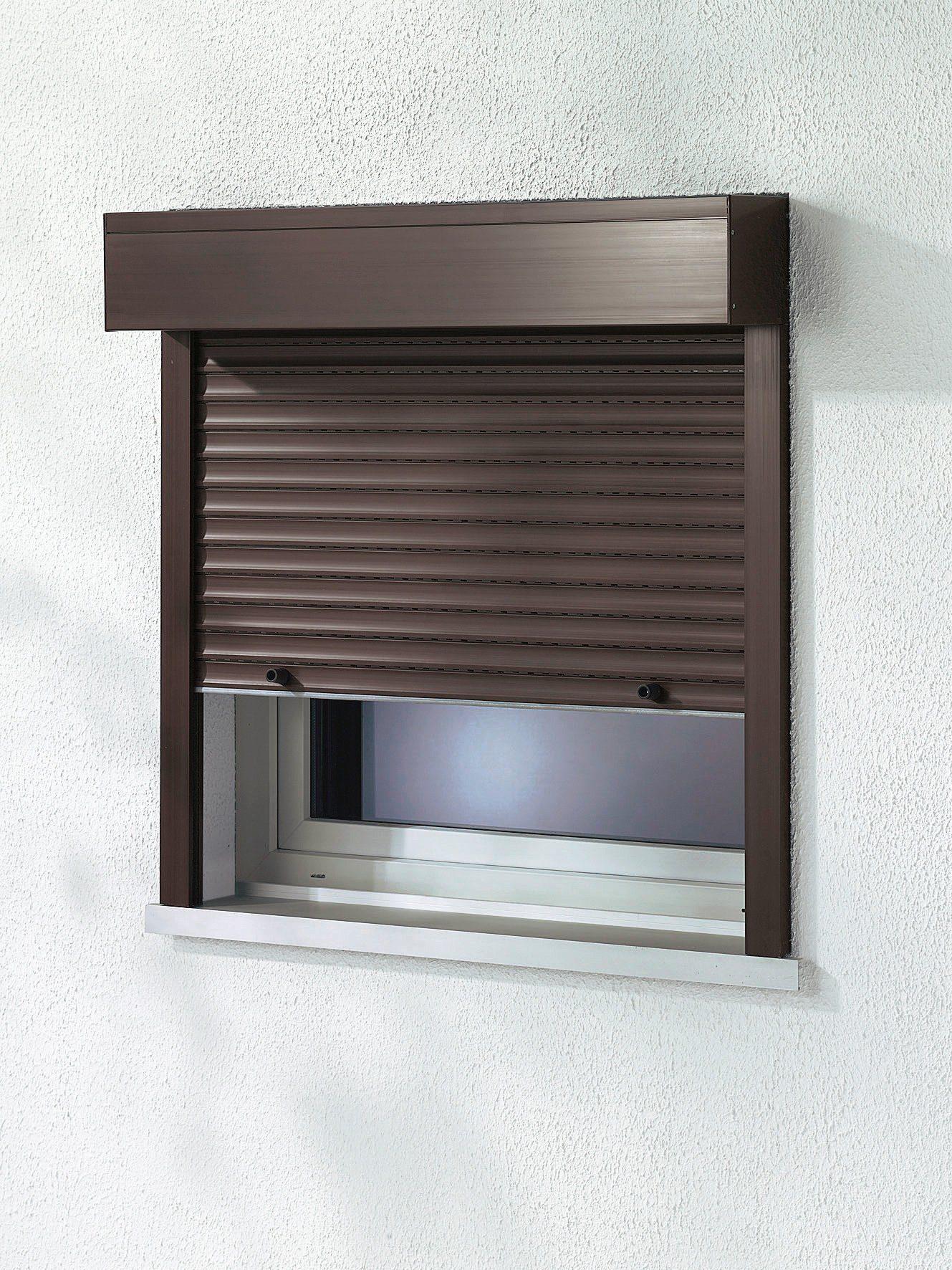 Kunststoff »Vorbau-Rollladen« Sondermaß Breite, Höhe: 210 cm, braun