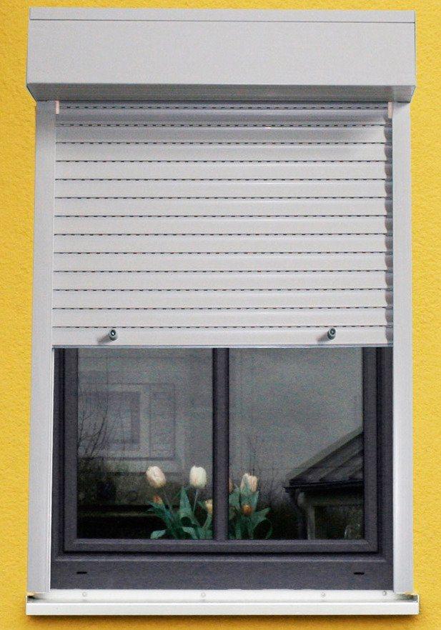 Kunststoff »Vorbau-Rollladen« Sondermaß Breite, Höhe: 210 cm, grau in grau