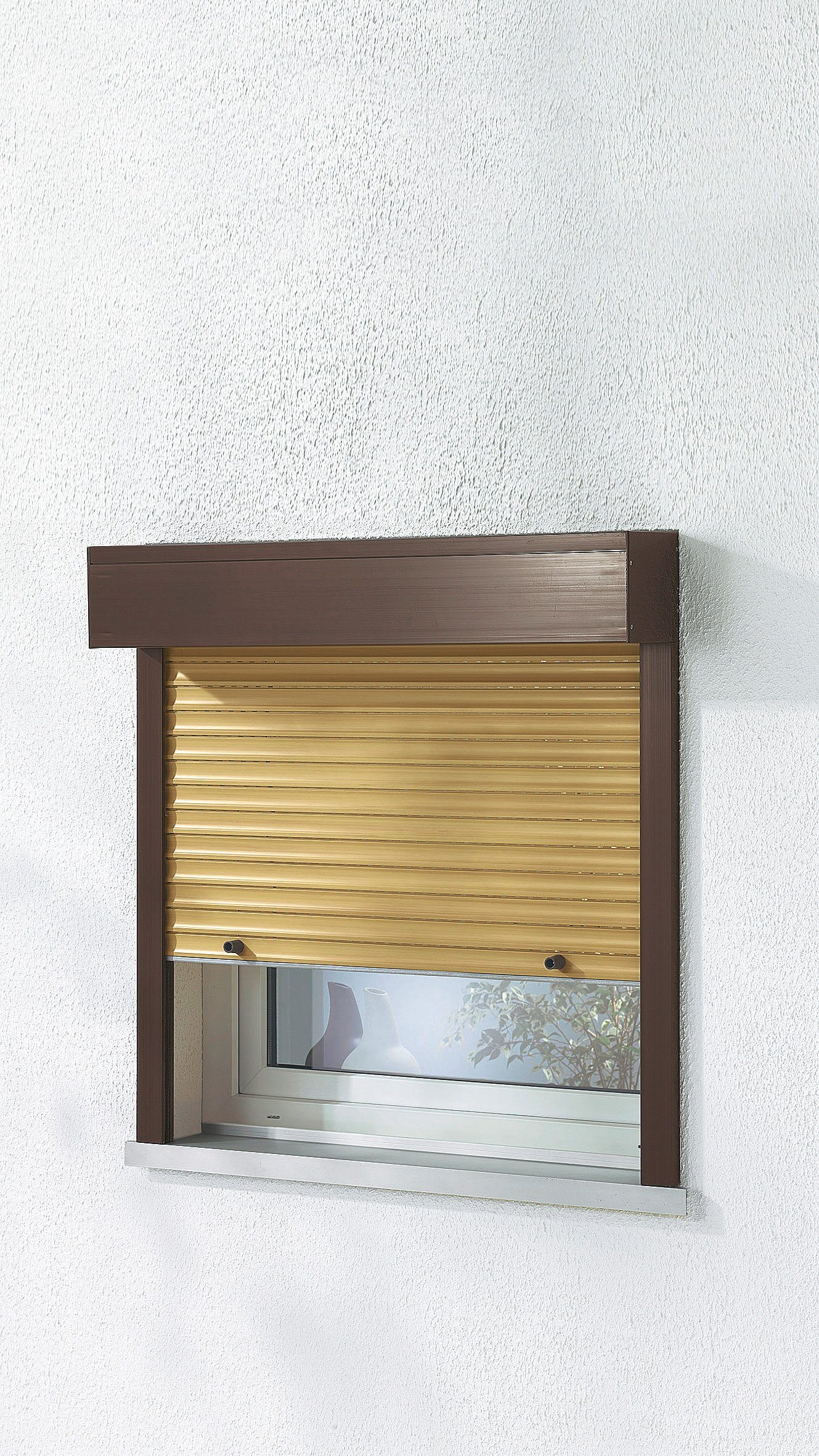 Kunststoff »Vorbau Rollladen« Sondermaß Breite, Höhe: 100 cm, holzfarben-braun