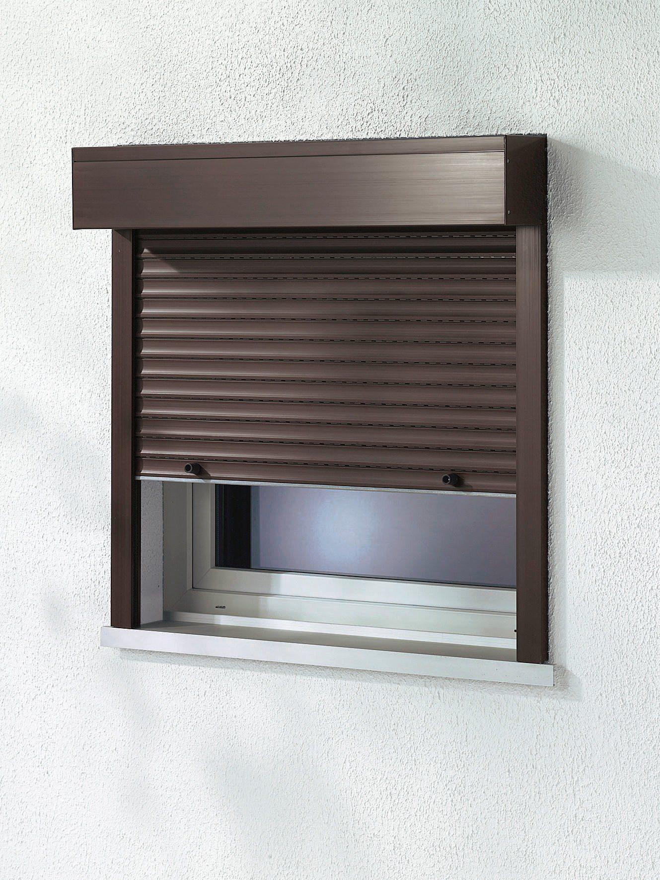 Kunststoff »Vorbau-Rollladen« Sondermaß Breite, Höhe: 130 cm, braun