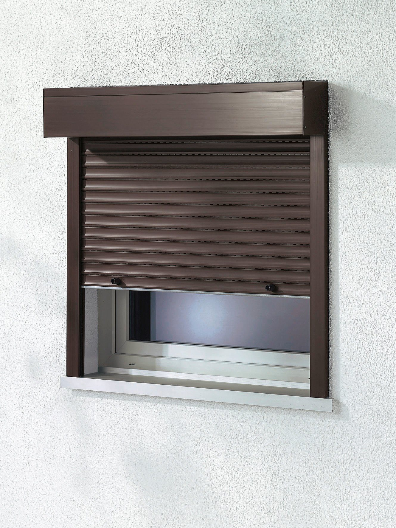 Kunststoff »Vorbau-Rollladen« Festmaß, BxH: 140x150 cm, braun