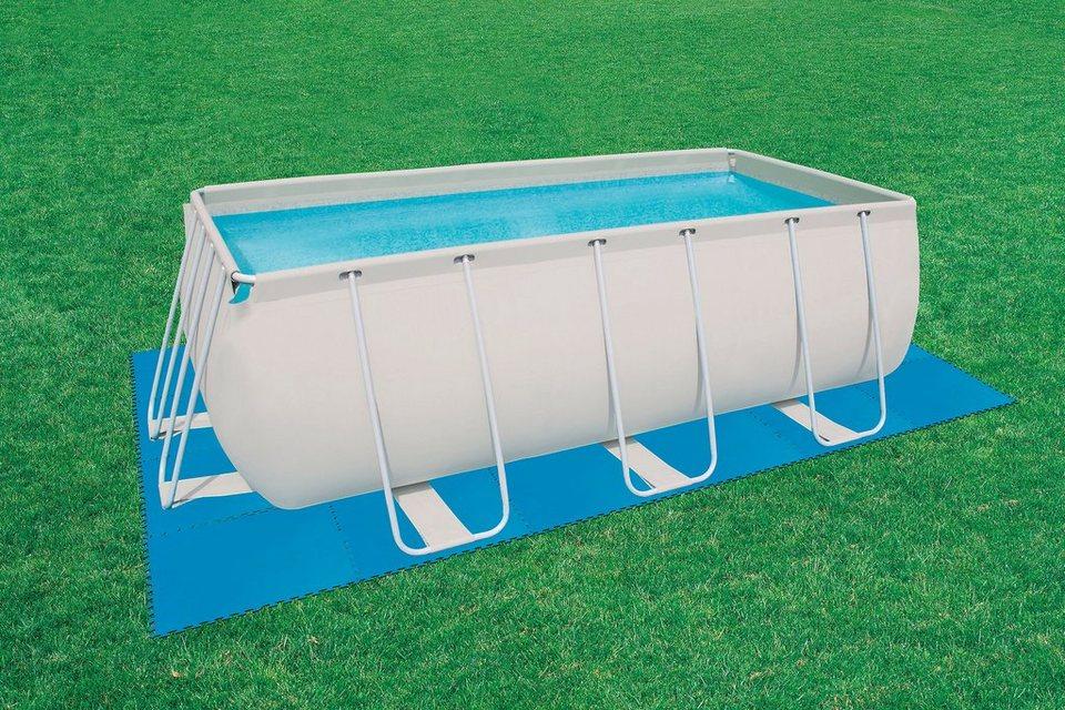 »Pool Bodenschutz Fliesen Set 8 Stück « in blau