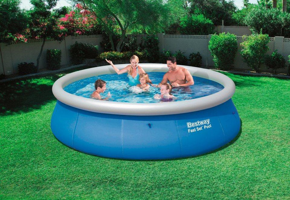 Bestway Quick-Up Pool »Fast Set Pool«, ØxH: 396 x 84 cm in blau