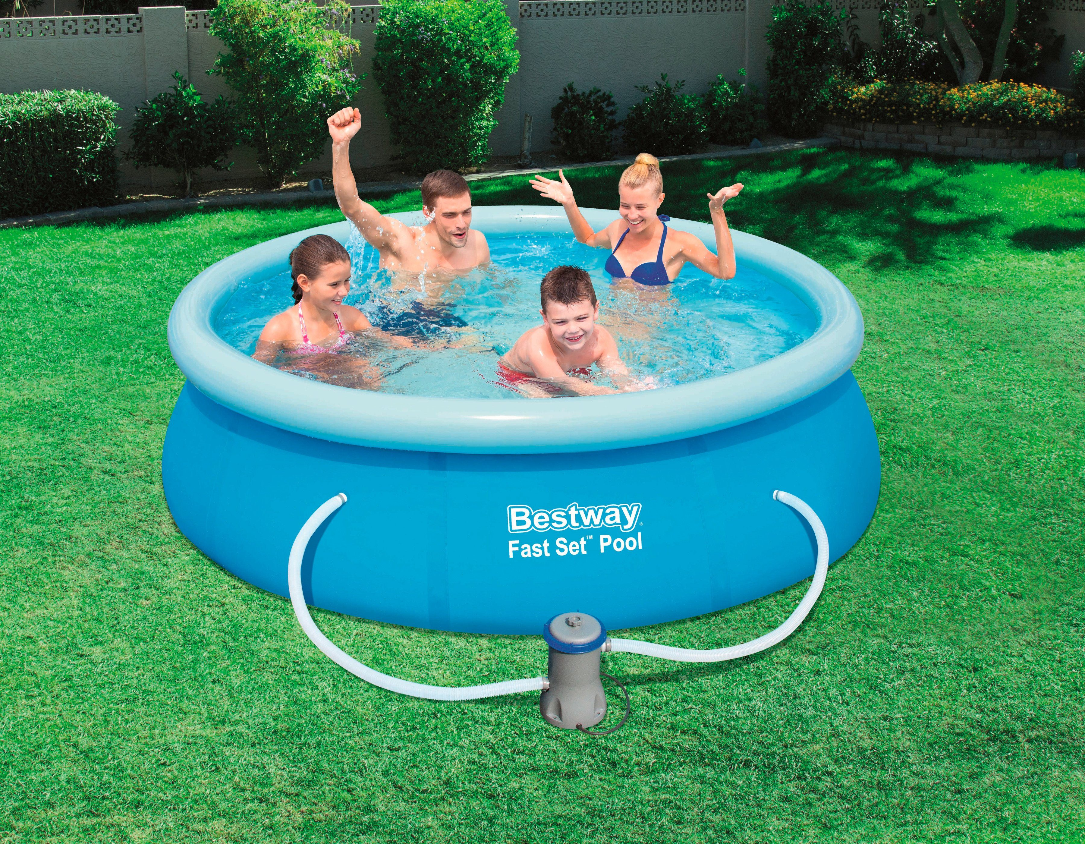 Bestway Set: Quick-Up Pool »Fast Set Pool«, mit Filterpumpe, ØxH: 244 x 66 cm