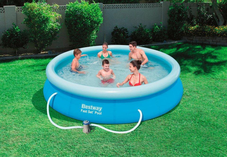 Bestway Set: Quick-Up Pool »Fast Set Pool«, mit Filterpumpe, ØxH: 396 x 84 cm in blau