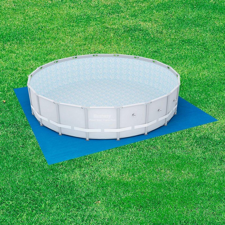 Bodenschutzplane bodenplane f r fast set und frame pools for Stabile garten pools