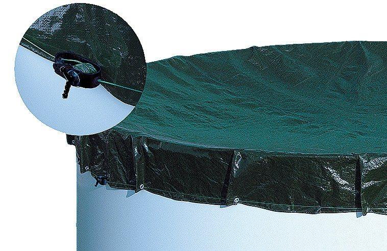 MYPOOL Abdeckplane , für Ovalbecken, in 3 Größen in grün