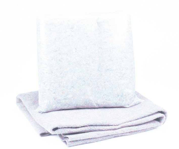 Bodenschutzvlies für Achtformbecken in weiß