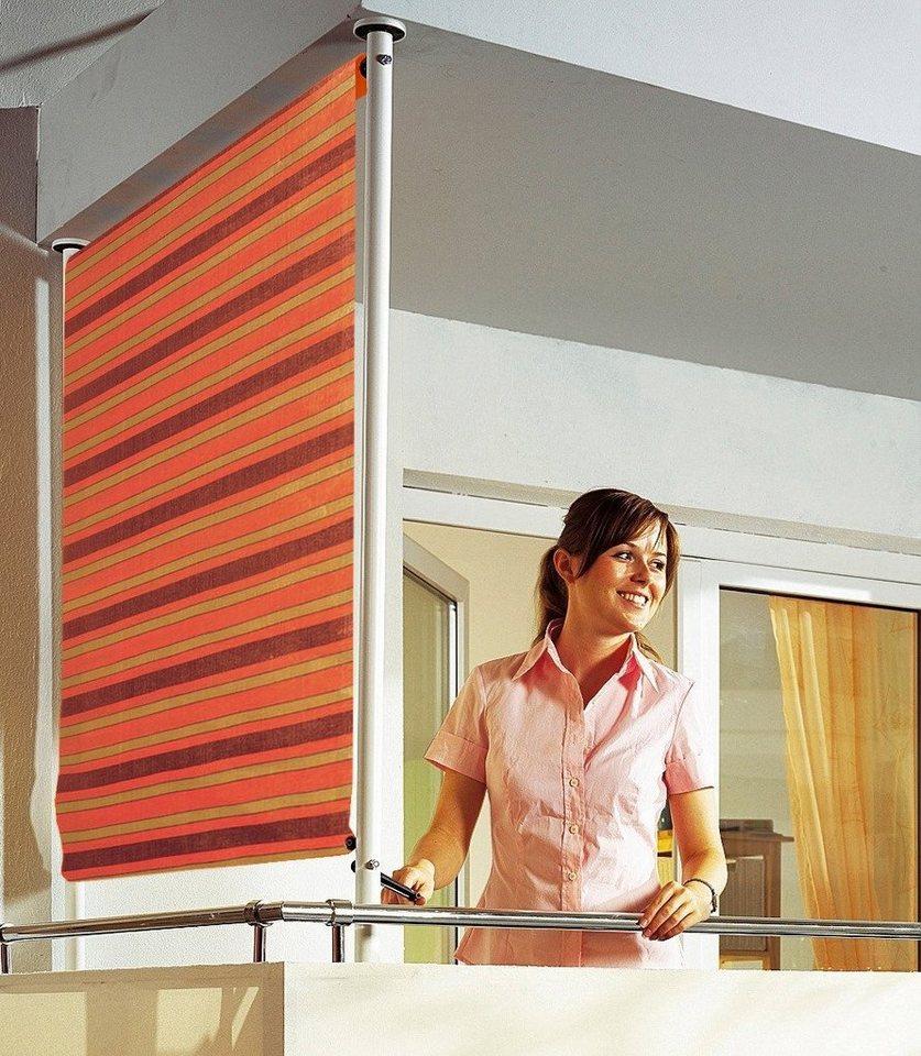 Angerer Freizeitmöbel Balkonsichtschutz »Polyethylen, orange/braun« in 2 Breiten in orange