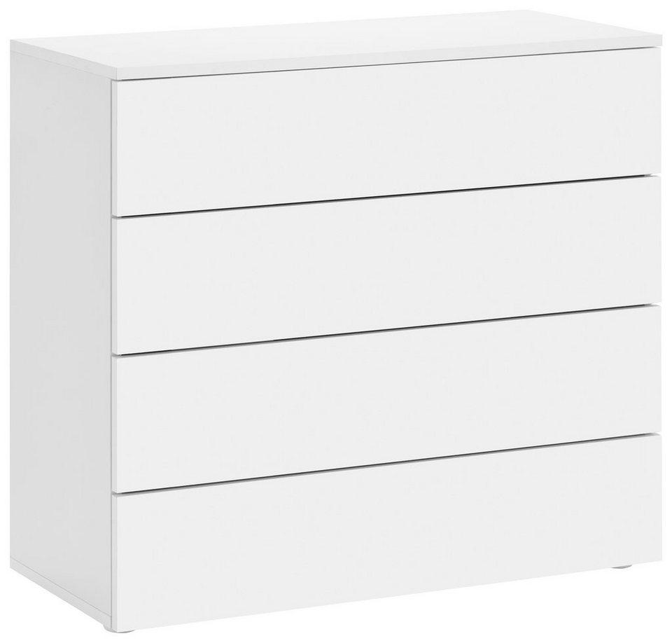 Kommode, »Rova« Breite 76 cm in weiß-weiß matt