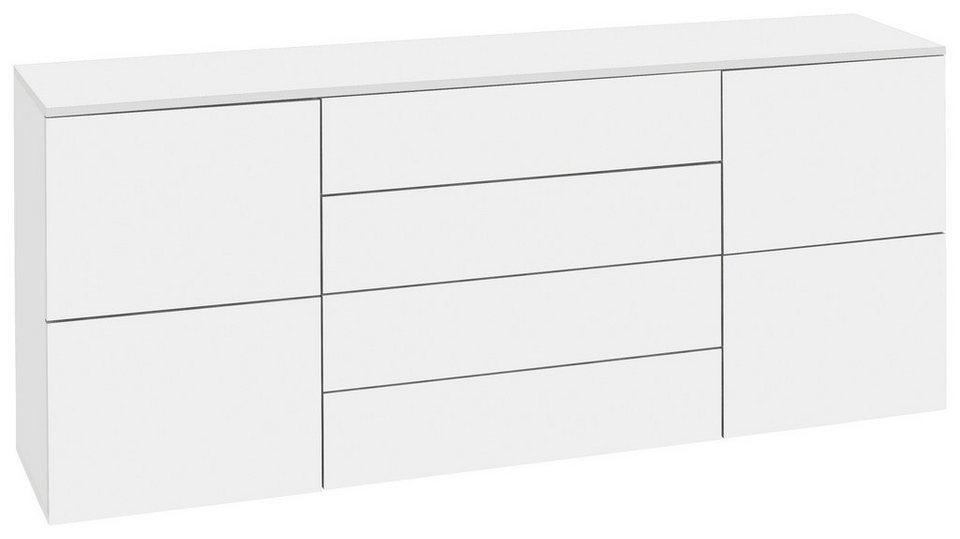 Kommode, »Rova« Breite 166 cm in weiß-weiß matt
