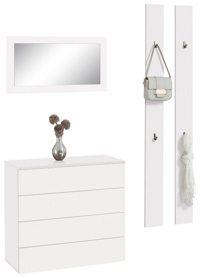 Garderoben-Set »Rova« (3-tlg.) in weiß-weiß matt