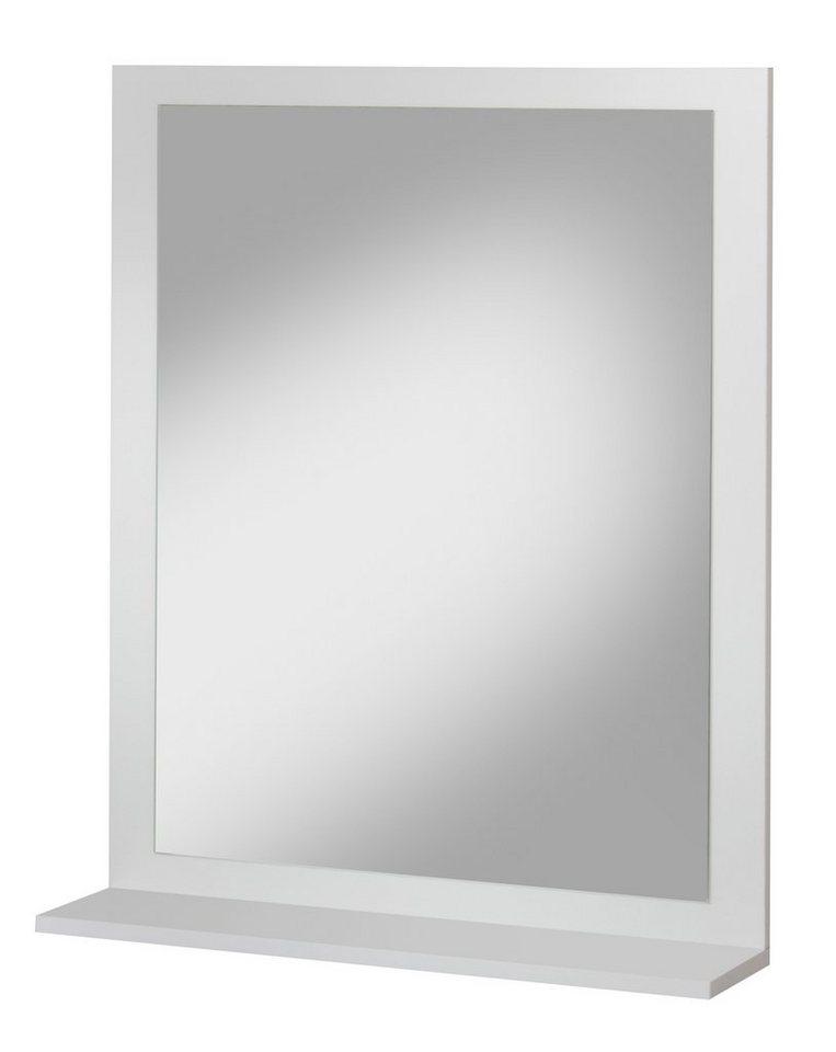 Spiegel / Badspiegel »Lugo« Breite 58,5 cm, mit Ablage in weiß