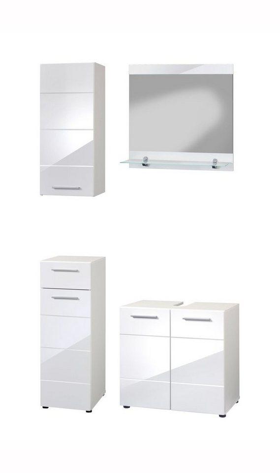 Badmöbel-Set »Aqua«, 4-tlg. in weiß