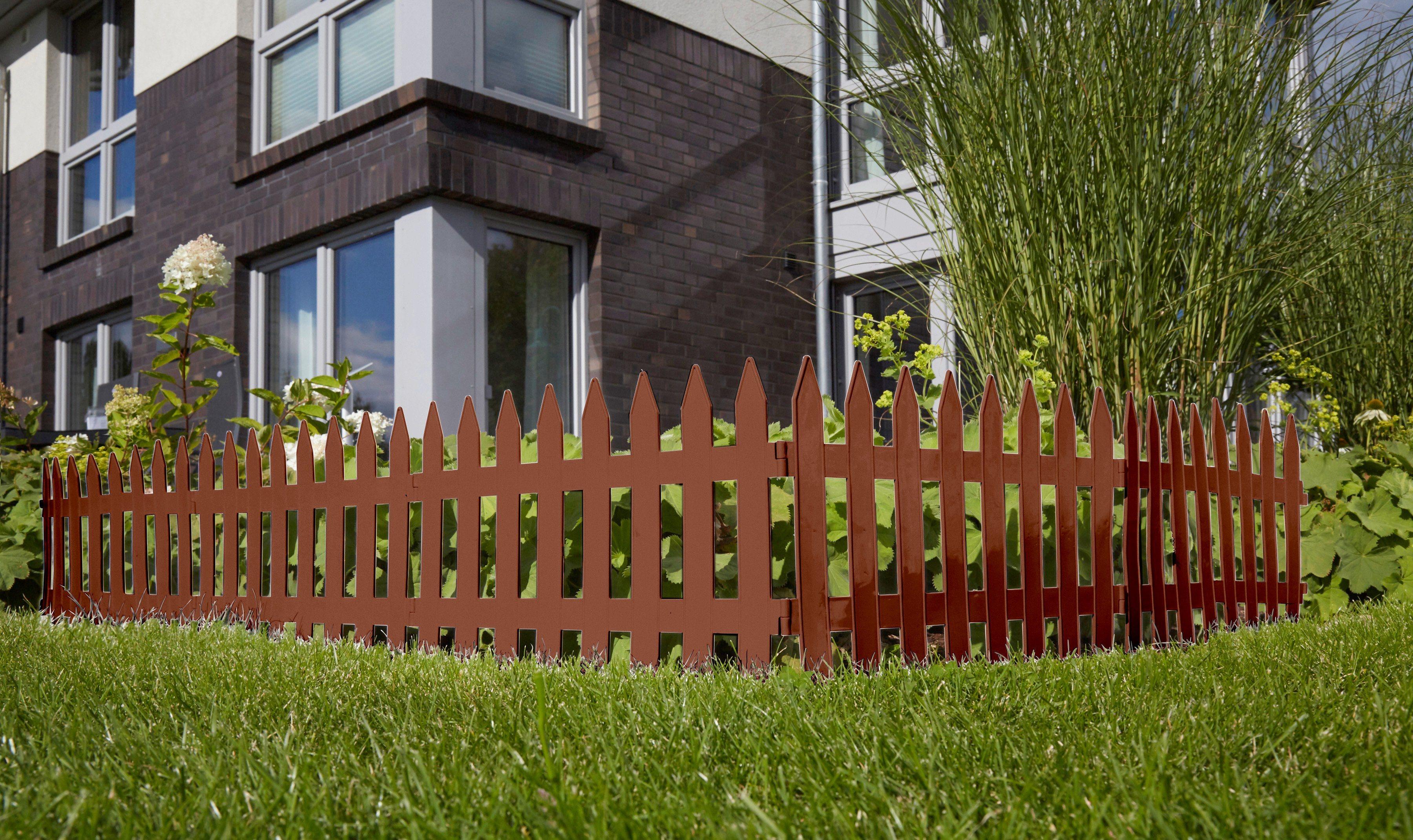 Prosperplast Minizaun »Garden Classic« braun | Garten > Zäune und Sichtschutz | Prosperplast