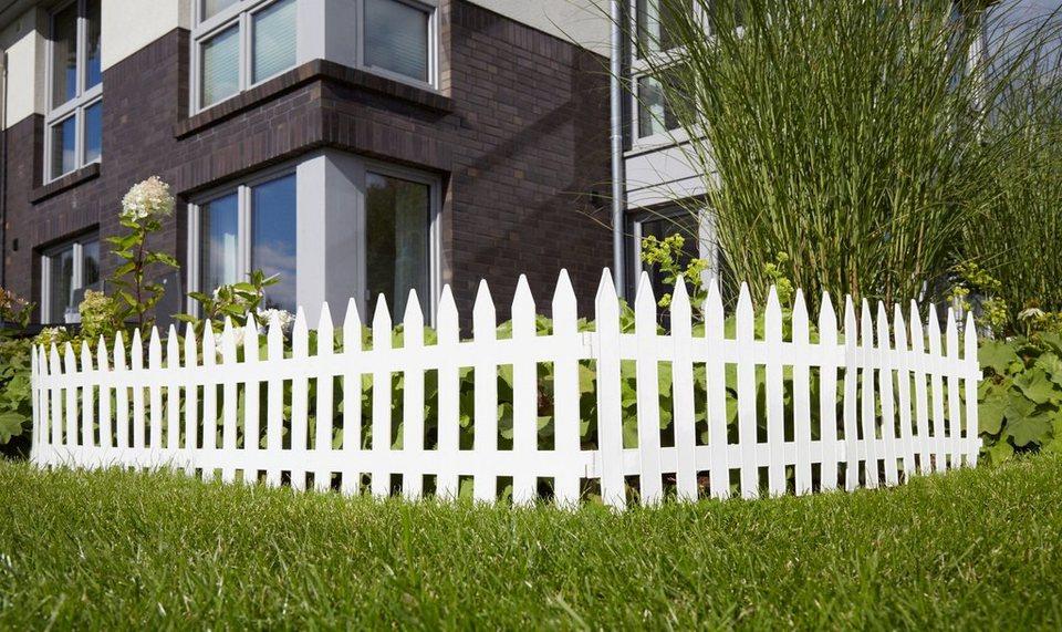 Minizaun »Garden Classic« weiß in weiß