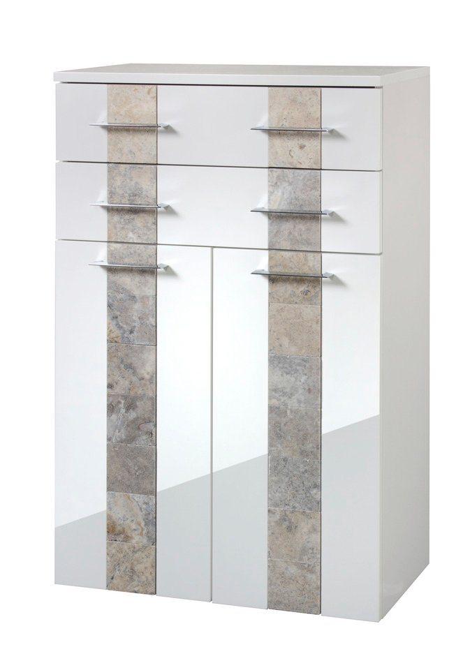 Midischrank »Stone«, Breite 65 cm in weiß