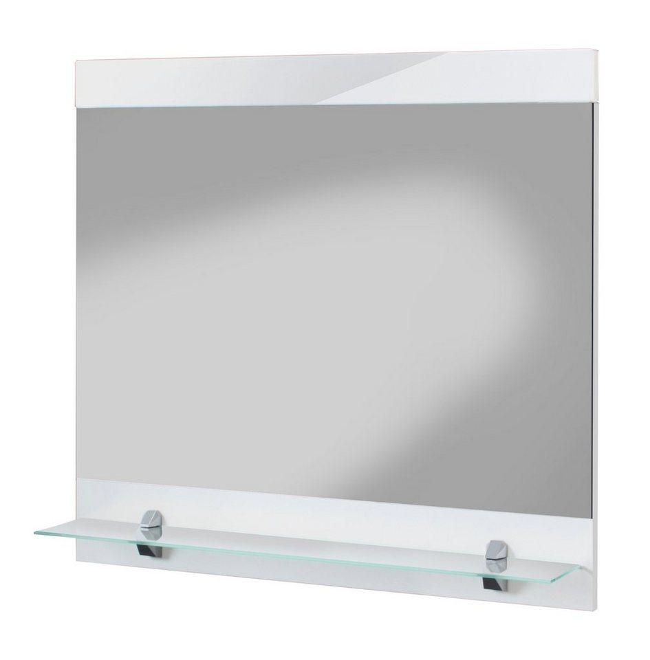 Spiegel / Badspiegel »Aqua« Breite 60 cm, mit Ablage in weiß