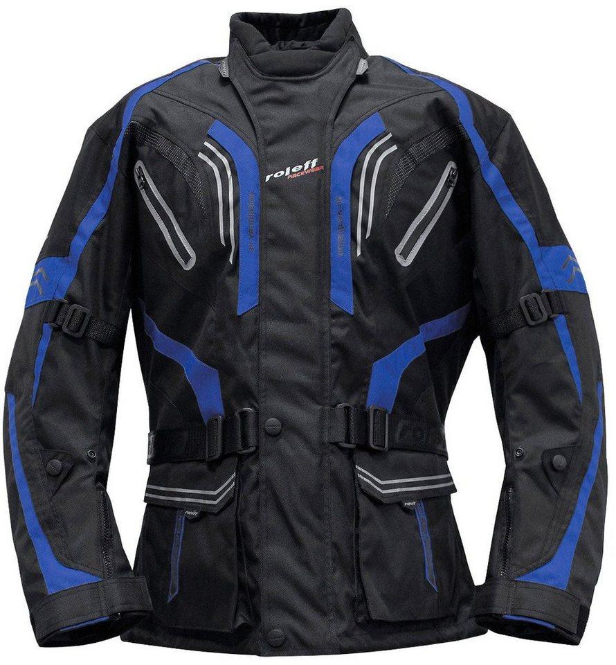 Roleff Motorradjacke »LIMA« in schwarz/blau