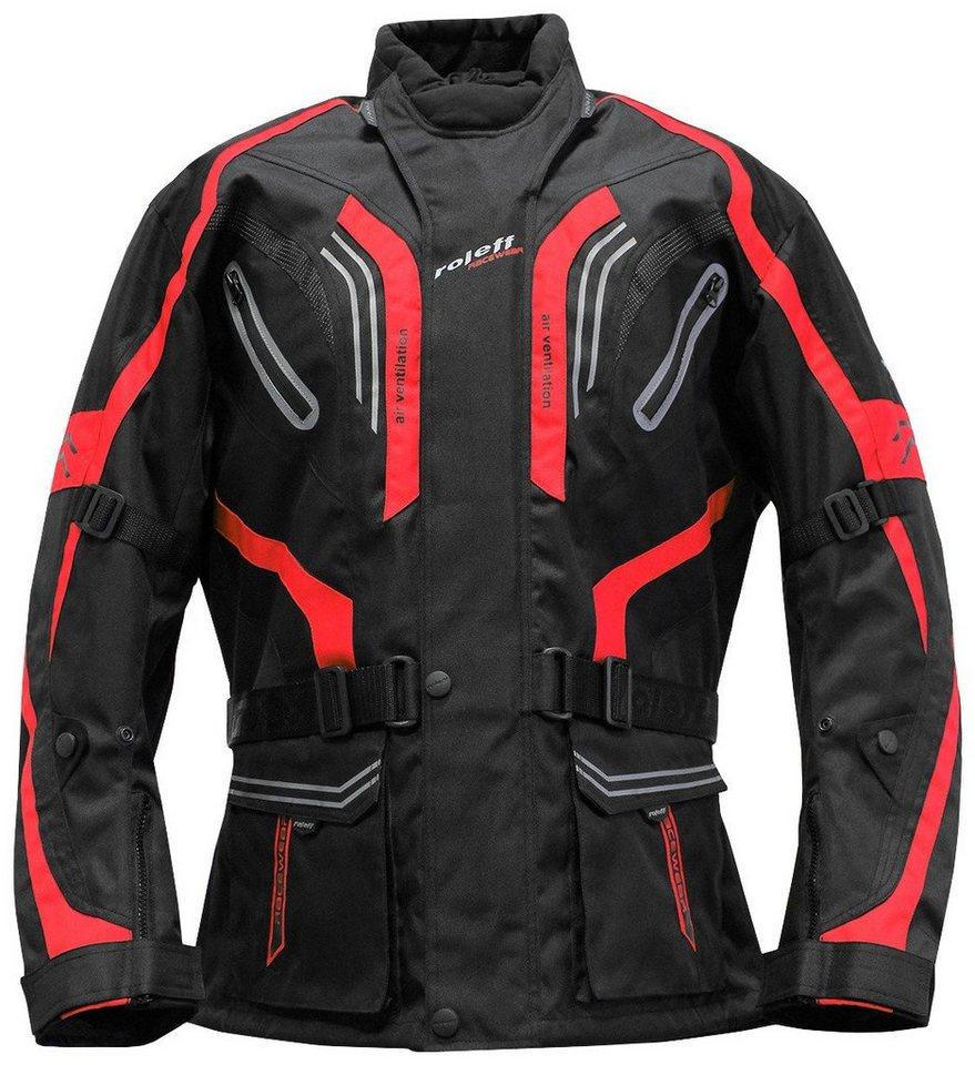 Roleff Motorradjacke »LIMA« in schwarz/rot