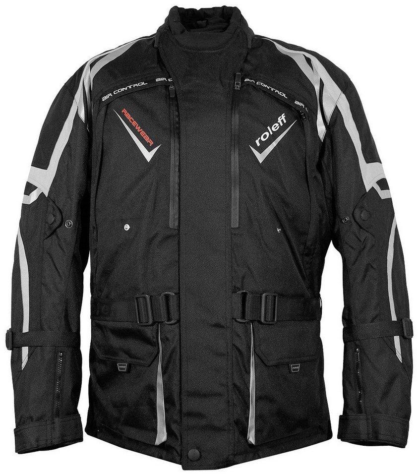 Motorradjacke »VEVEY« in schwarz/grau