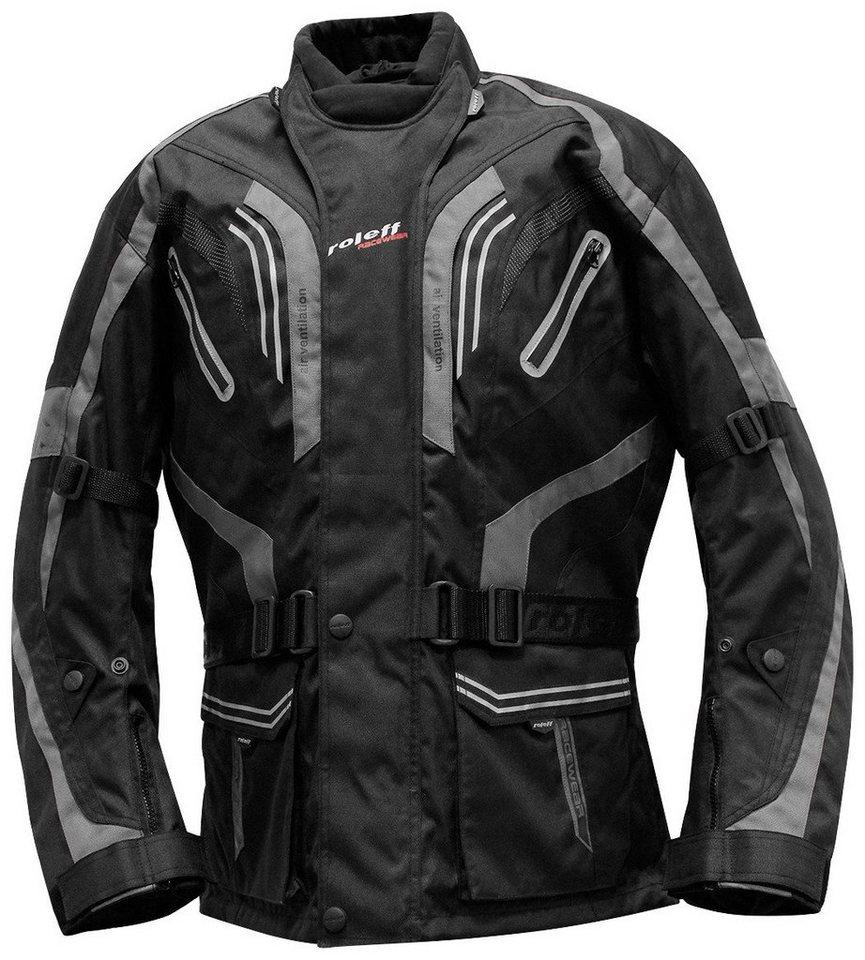 Motorradjacke »LIMA« in schwarz/grau