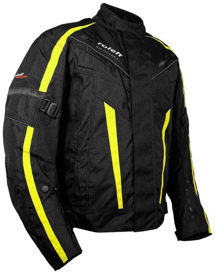 Roleff Motorradjacke »KOPENHAGEN« in schwarz/gelb