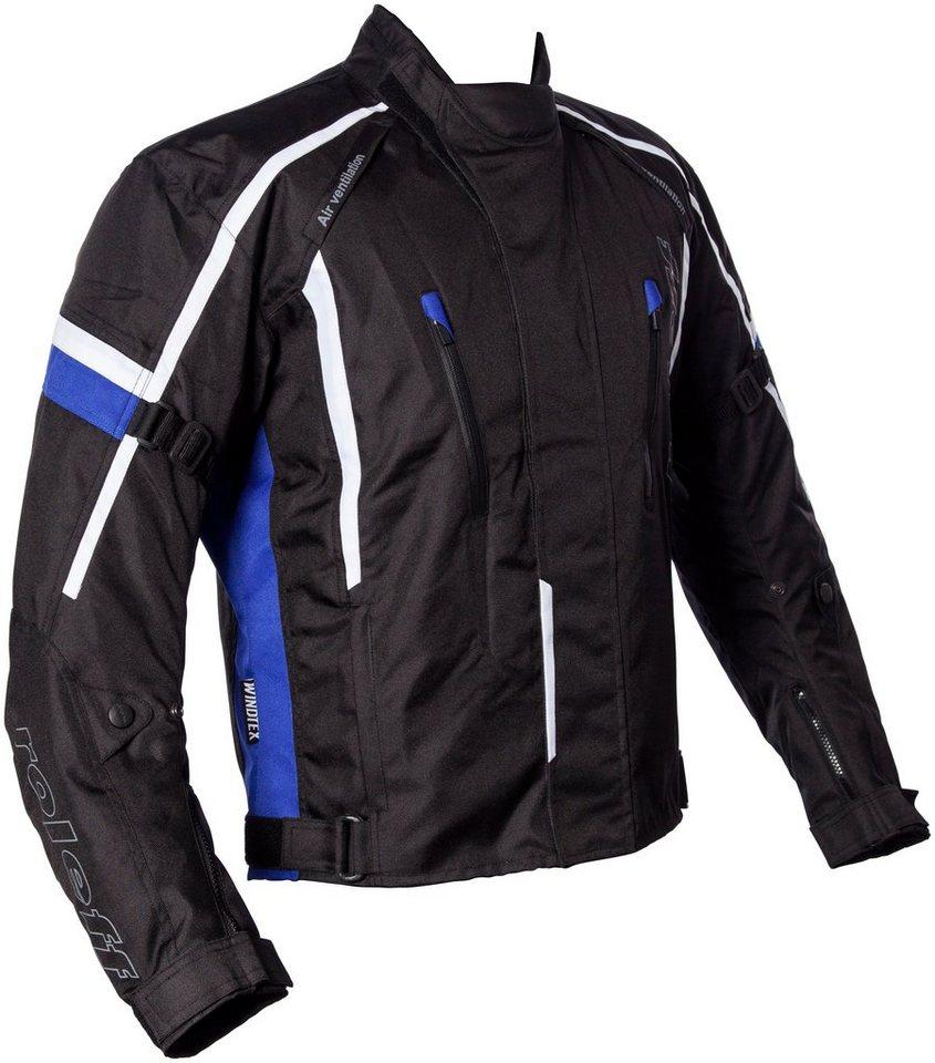Roleff Motorradjacke »Ancona« in schwarz/blau